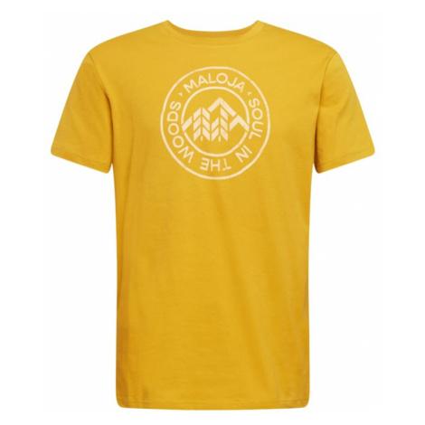 Maloja Funkčné tričko 'Rotbirne'  žltá / biela