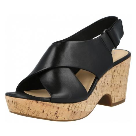 CLARKS Sandále 'Maritsa Lara'  čierna / svetlohnedá