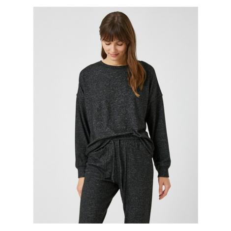 Koton Women's Anthracite Pajamas Top