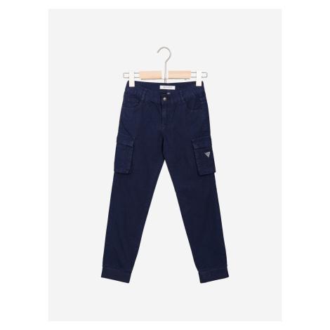 Kalhoty dětské Guess Modrá