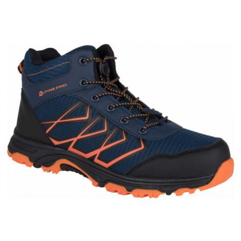 ALPINE PRO JACOBO MID oranžová - Detská outdoorová obuv