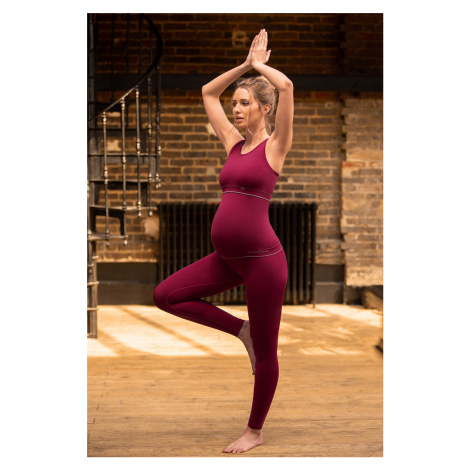 Bordové tehotenské legíny Illusion