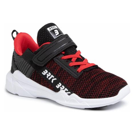 Sneakersy BARTEK - 78208/W76 Czarno-Czerwony