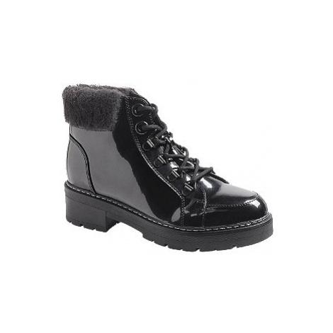 Čierna lakovaná šnurovacia obuv Landrover