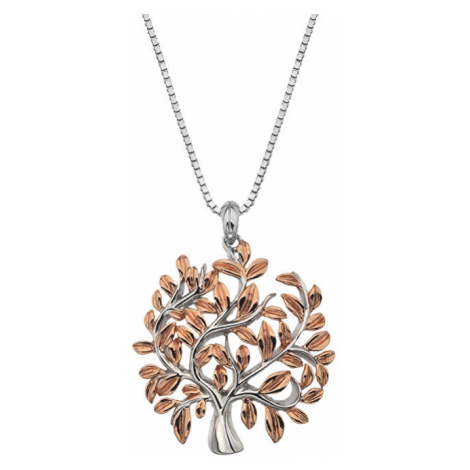 Hot Diamonds Luxusný strieborný náhrdelník so stromom života Jasmine DP701 (retiazka, prívesok)