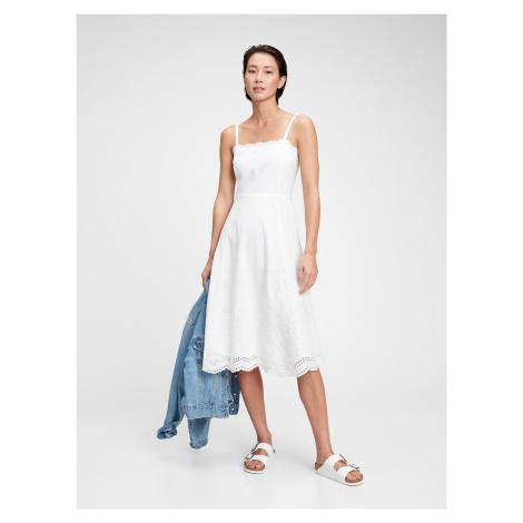 GAP biele šaty s madeirou