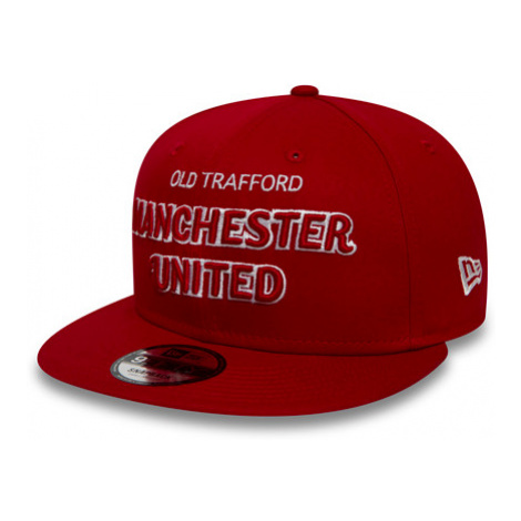 New Era 9Fifty Script Manchester United Fc Scarlet