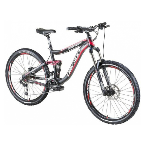 "Horský celoodpružený bicykel Devron Zerga FS6.7 27,5"" - model 2016 Farba Black-Blue"