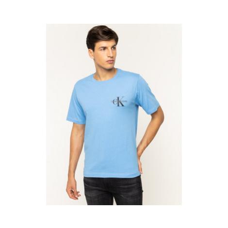 Calvin Klein Jeans Tričko Monogram Embro J30J313438 Modrá Regular Fit