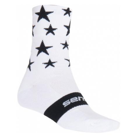 Športové ponožky Sensor Stars biela-čierna