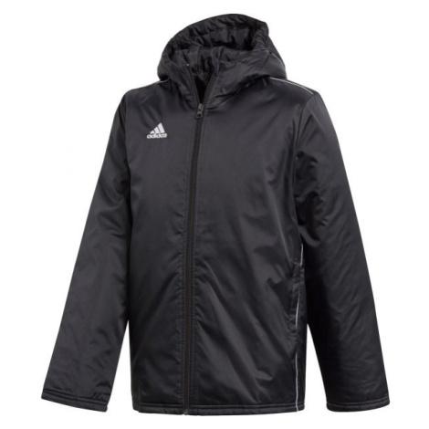 adidas CORE18 STD JKT čierna - Chlapčenská športová bunda