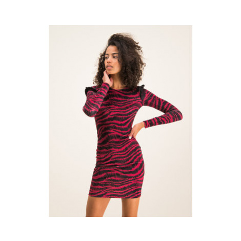 Just Cavalli Každodenné šaty S04CT0942 Fialová Slim Fit