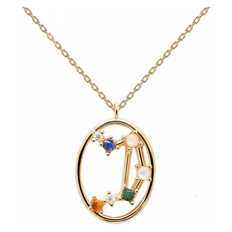 PDPAOLA Originálne pozlátený náhrdelník Váhy LIBRA CO01-350-U (retiazka, prívesok)