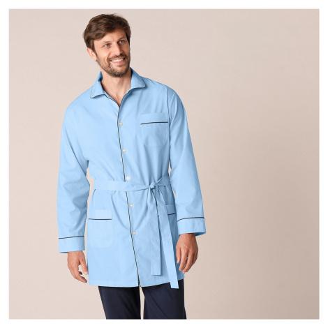 Blancheporte Predĺžený pyžamový kabátik nebeská modrá