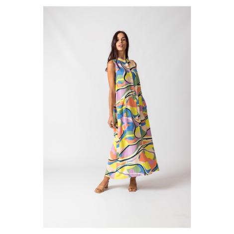 SKFK farebné maxi šaty Metxe