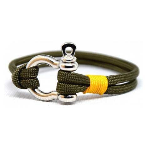 Cordell Módny náramok Slim N - oliva / žltá