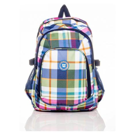 Detský školský batoh s kockovaným vzorom batoh