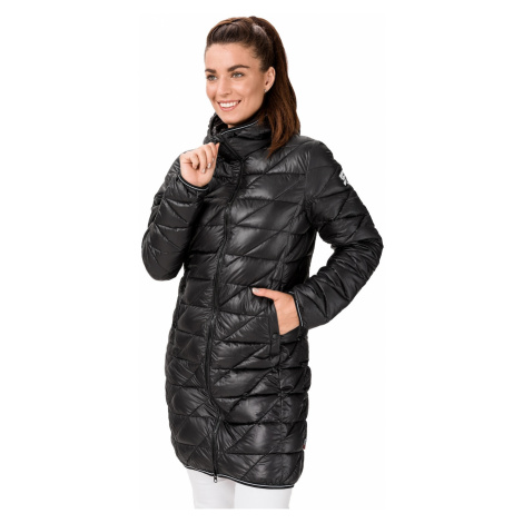 Čierny dámsky prešívaný kabát SAM 73
