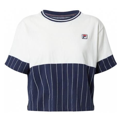 FILA Tričko 'HANAE'  biela / námornícka modrá / svetločervená