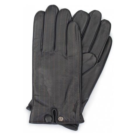 Čierne kožené rukavice pre pánov Wittchen
