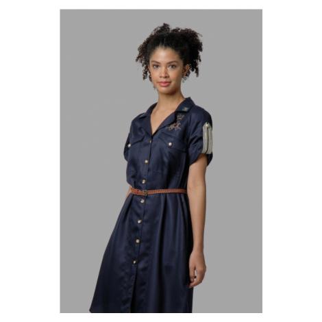 Šaty La Martina Woman Dress Short Sleeves Lyoc