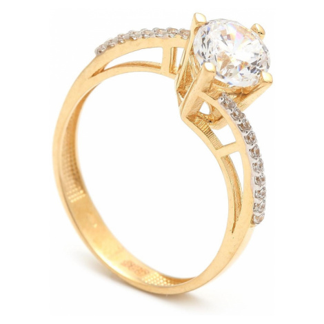 Zlatý zásnubný prsteň ZENAIDA