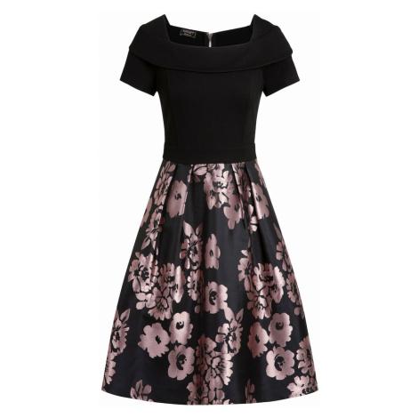 APART Šaty  čierna / fialová