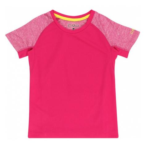 CMP Funkčné tričko  brusnicová / biela
