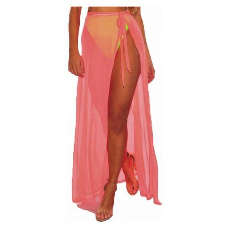 Plážová maxi sukňa - ružová