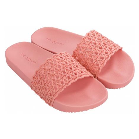 Zaxy ružové šľapky Snap Mesh Slide Fem Pink