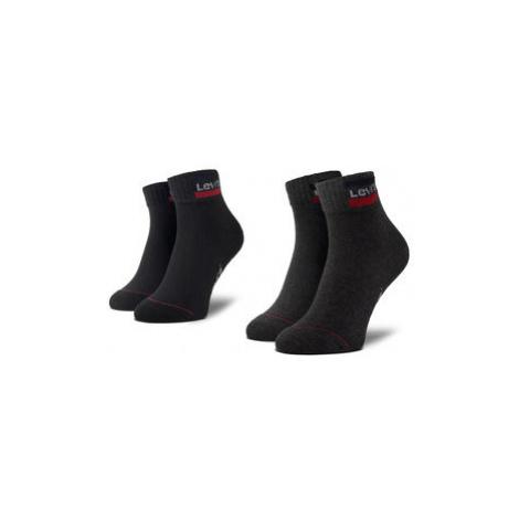 Levi's® Súprava 2 párov kotníkových ponožiek unisex 37157-0148 Čierna Levi´s