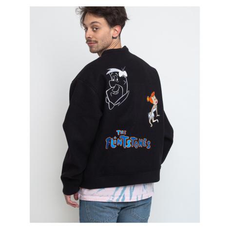 Lazy Oaf Flintstones Character Bomber Jacket Black
