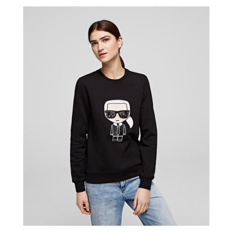 Mikina Karl Lagerfeld Ikonik Karl Sweatshirt - Čierna