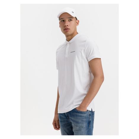 Micro Branding Liquid Polo triko Calvin Klein Biela