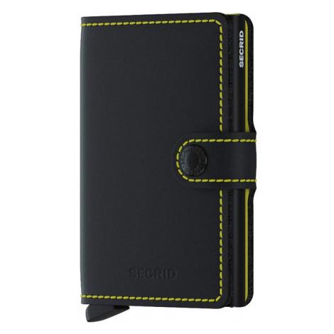 Secrid Miniwallet Matte Black & Yellow-One size čierne MM-Black-Yellow-One size
