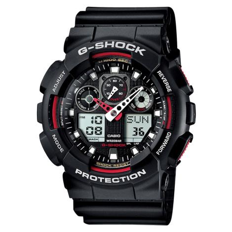 Casio G-Shock GA 100-1A4ER čierne / červené