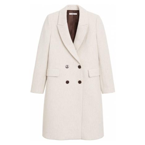 MANGO Prechodný kabát  svetlobéžová