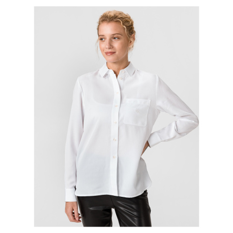 Classic Twill Košile Calvin Klein Biela