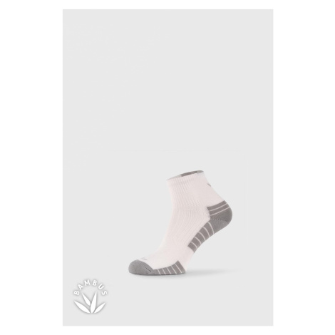 Športové bambusové ponožky Belkin biela VoXX