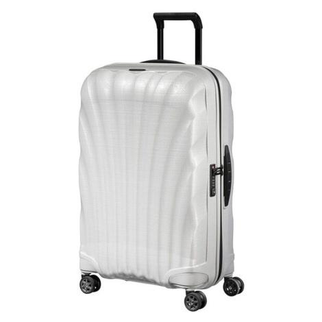 Samsonite Škrupinový cestovný kufor C-lite Spinner 68 l - bílá