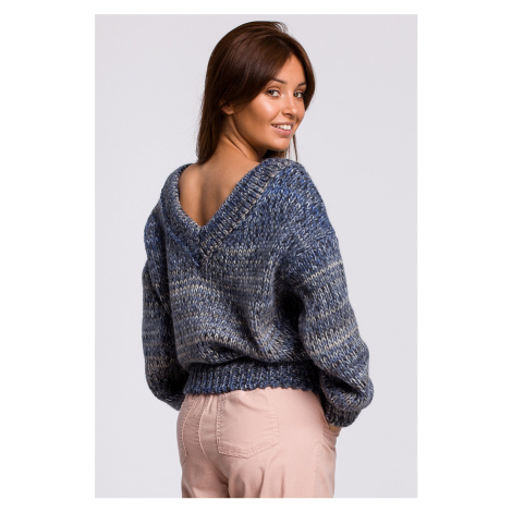 Modrý pulóver BK048