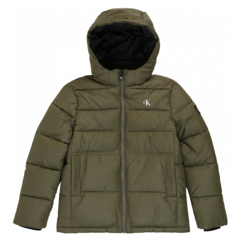 Calvin Klein Jeans Zimná bunda 'Essential'  olivová