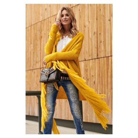 Žltý sveter S94 Makadamia