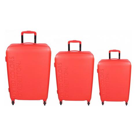 Sada 3 cestovných kufrov United Colors of Benetton Aura S, M, L - červená