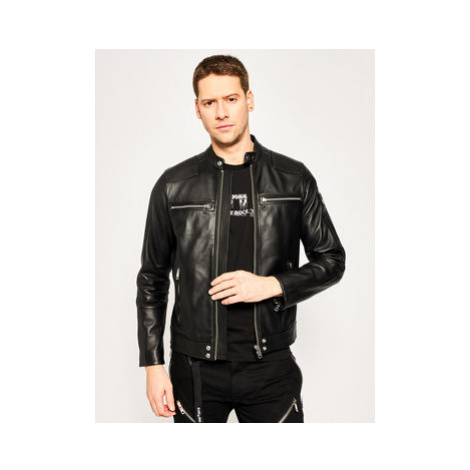 Diesel Kožená bunda L-Boy 00S6Z1 0TAUH Čierna Regular Fit