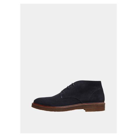 Selected Homme modré pánske topánky členkové Luke