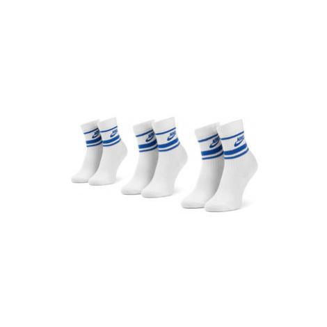 Nike Súprava 3 párov vysokých ponožiek unisex CQ0301 105 Biela