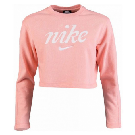 Nike NSW CREW CROP WSH ružová - Dámska mikina