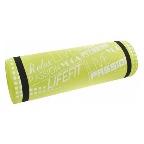 Podložka LIFEFIT YOGA MAT EXKLUZIV , 100x60x1cm, světle zelená Rulyt