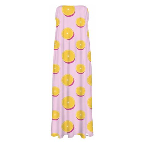 Ružovo-žlté šaty CP-027 Colour Pleasure